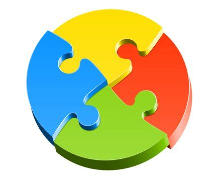 4 piece jigsaw puzzle template clipart best