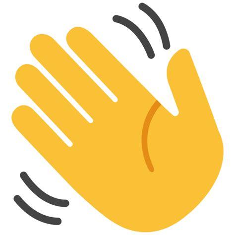 emoji of a wave file emoji u1f44b svg wikimedia commons