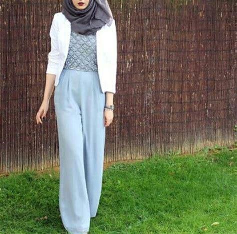 Baju Muslim Formal 15 model baju atasan wanita blazer trendy muslim