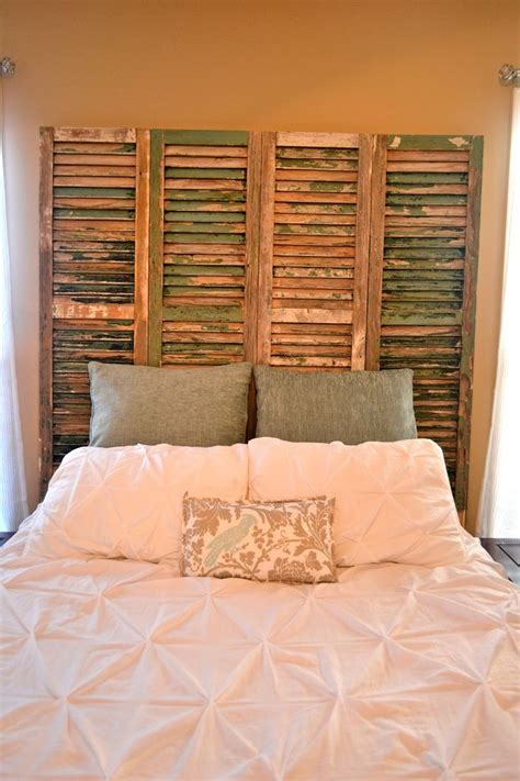 headboard made from shutters best 20 shutter headboards ideas on pinterest