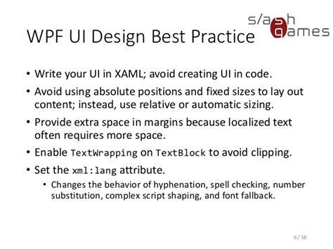 xaml layout best practices tool development 09 localization testing