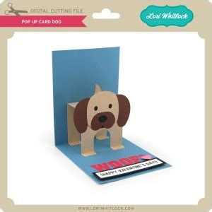 dog pop up card template new pop up cards just in time for s day