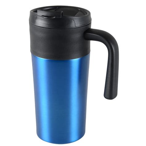 24 units of coffee mug insulated with handle grip at tazza 450ml thermal mug coffee tea travel cup screw on lid