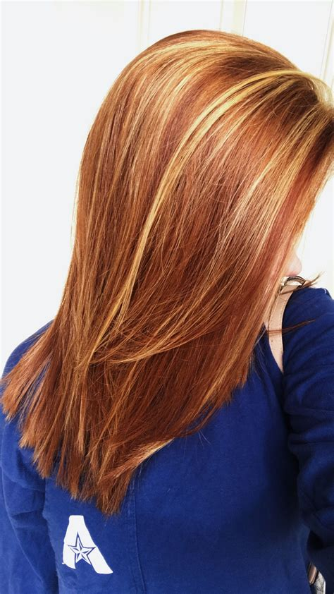 red hair highlights and lowlights natural red hair with auburn lowlights blonde highlights