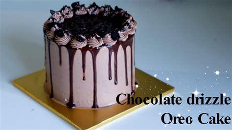 how to make chocolate drizzle oreo cake 드리즐 오레오케익 만들기 youtube