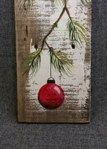 Red Christmas Bulb Ornaments - christmas decor pallet christmas art red christmas decoration hand painted pine with red bulb