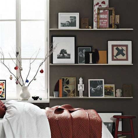 Bedroom Wall Shelves | utilization of wall shelves as a versatile display and