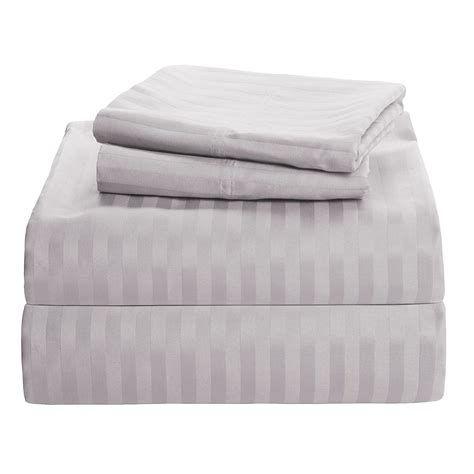 westport home sateen dobby stripe sheet set king 450 tc