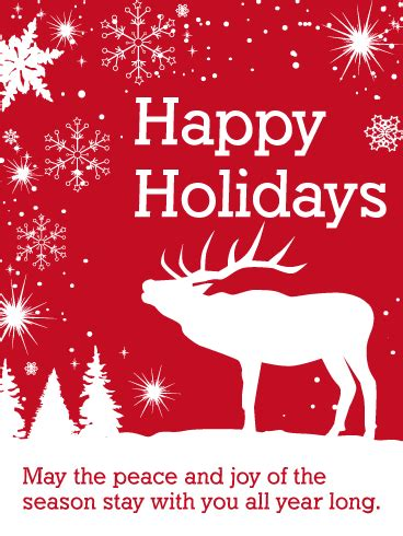 seasons greetings and new year 2018 e cards white reindeer happy holidays card birthday greeting cards by davia