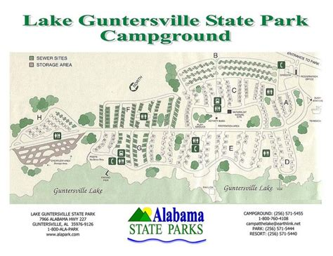 lake guntersville state park cground map