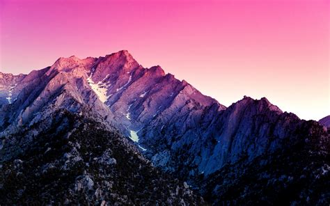 pink color mountains wallpaper