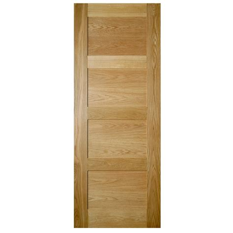 deanta coventry oak veneer 4 panel shaker door
