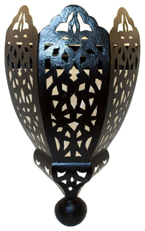 Moroccan Wall Sconce Moroccan Rustic Iron Wall Sconce Mediterranean Wall Lighting By Badia Design Inc
