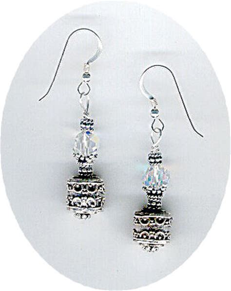 beaded earring designs beaded earrings designed with swarovski crystals by bead