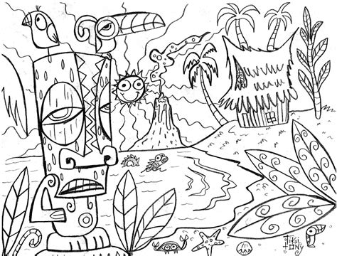 Hawaii Coloring Pages Hawaii Coloring Page