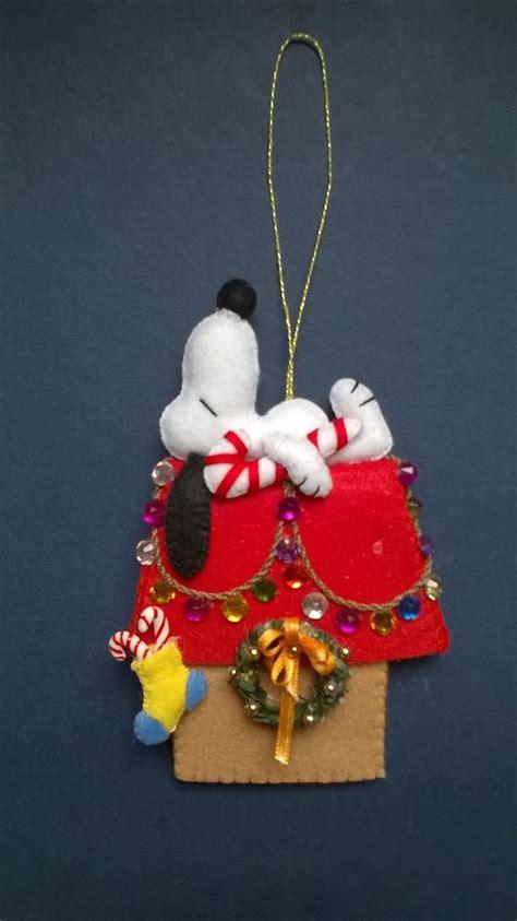 snoopy felt ornament make it pinterest felt