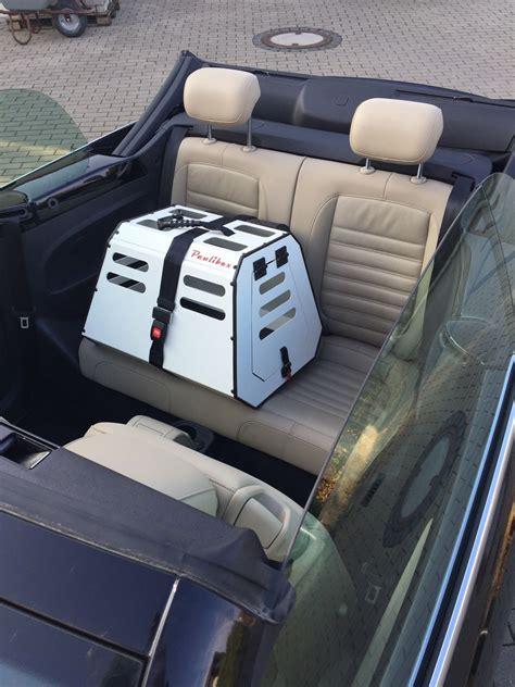 Hundetransport Auto by Hundetransportbox Hundebox Sicher Mobil Mit Hund Im Cabrio