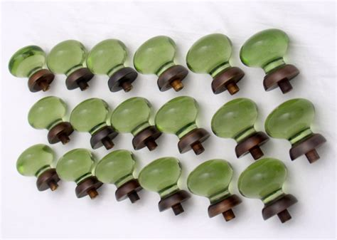green glass knobs traditional cabinet and drawer knobs