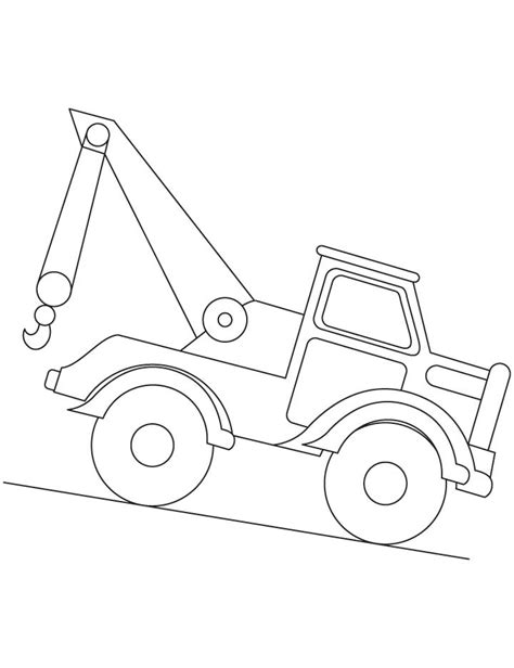 coloring page crane truck free coloring pages of crane and truck