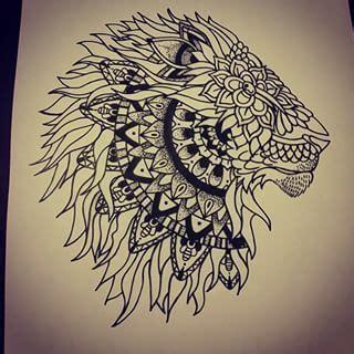 tattoo mandala lion lion mandala tattoo google search tatouage pinterest