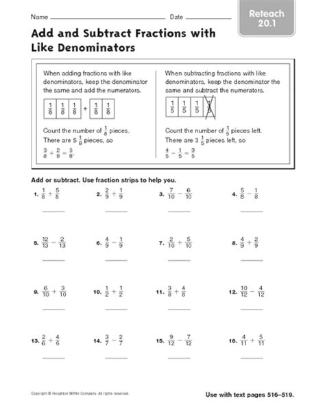 Adding And Subtracting Fractions Like Denominators Worksheet by Number Names Worksheets 187 Adding Fractions Word Problems
