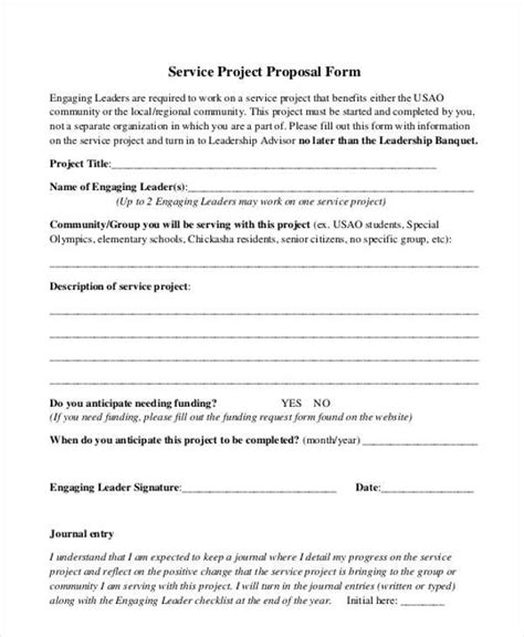 sle service proposal forms 8 free documents in word pdf
