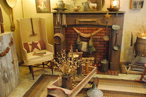 primitive living room ideas primitive country decorating a storybook life