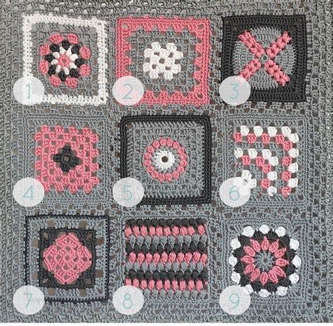 Patchwork Square Afghan - quot crochet meets patchwork quot afghan pink square
