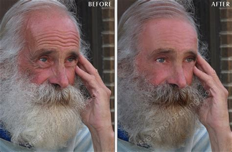 who is the youngest 60 yr old person photo retouching sle 85 year old man now looks 20