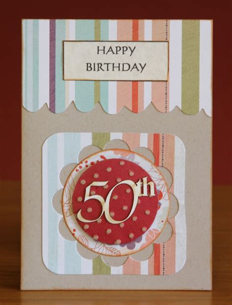 Handmade 50th Birthday Cards - handmade 50th birthday card numbers