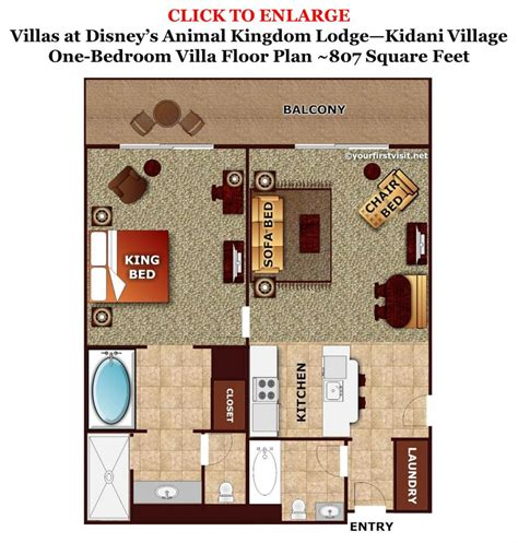 villas at wilderness lodge floor plan sleeping space options and bed types at walt disney world resort hotels yourfirstvisit net