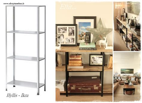 Ikea Hacking | hyllis all the way for industrial looking shelves ikea