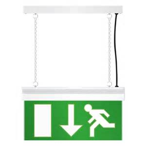 led emergency exit sign light white toolstation