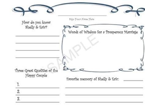 guest book cards template personalized printable wedding guestbook guest book ebay