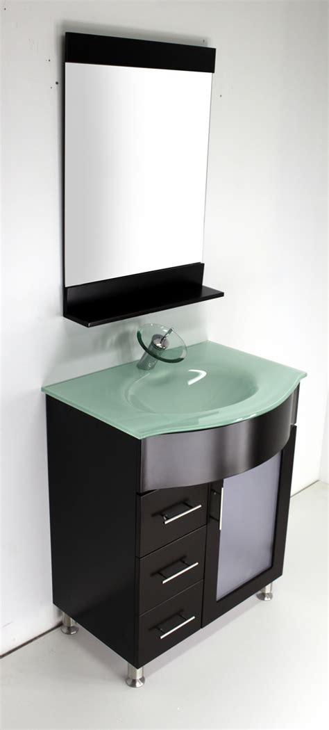 30 vanity with glasstop vanity depot
