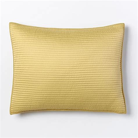 Channel Stitch Coverlet West Elm by Channel Stitch Coverlet Shams Horseradish West Elm