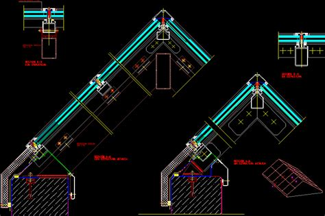 gabled skylight dwg section  autocad designs cad
