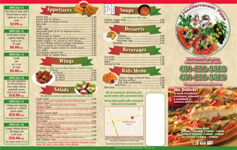 takeout menu template for excel pdf and word