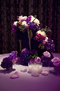 purple wedding centerpieces ideas a closeup of a centerpiece that was displayed at our purple event photo by jadore