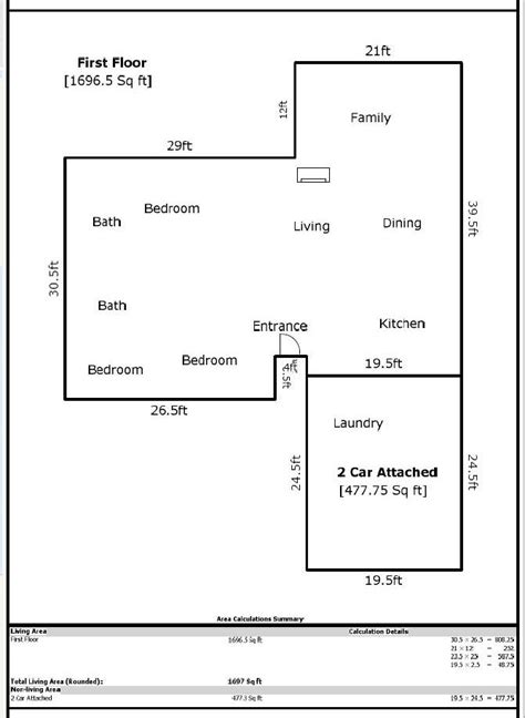 calculate square footage of a house how to calculate total square feet of a house house plan