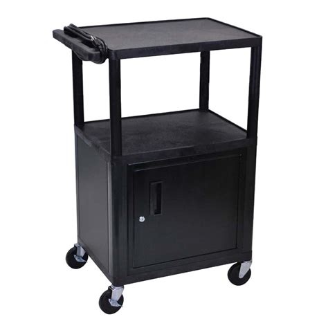 luxor cart with locking cabinet luxor 42 inch endura audio cart with locking cabinet