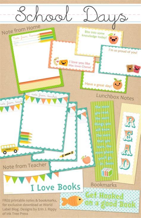 templates blogger school school days printables notes part 2 worldlabel blog