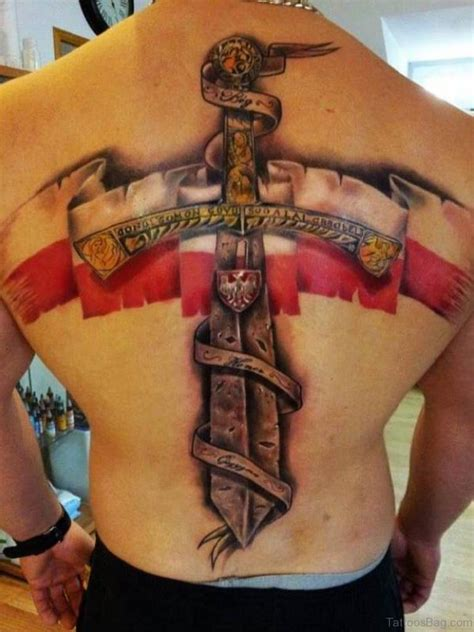 40 elegant sword tattoos for back