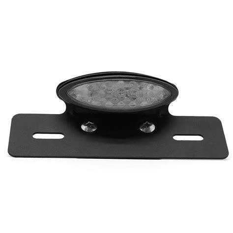 Led Smoke Tail Light With Plate Holder Caferacerwebshop Com Led Light Holder