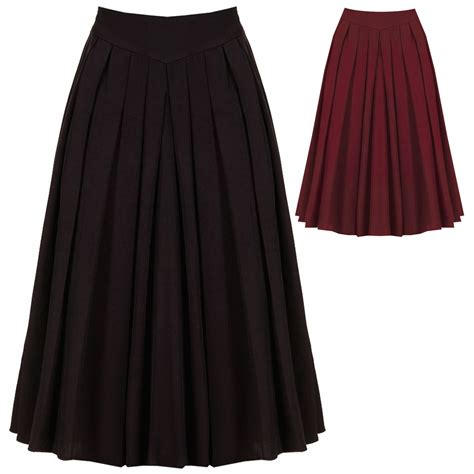 1950s swing skirt womens sexy 1950s vintage retro rockabilly swing pleated