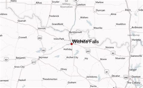 map wichita falls texas wichita falls location guide