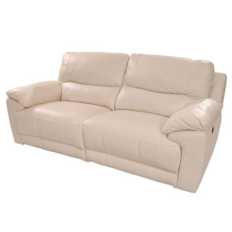 Macklein Cream Power Motion Leather Sofa El Dorado Furniture Power Motion Sofa Leather