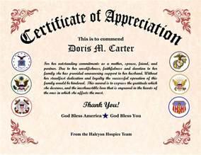 gratitude certificate template veterans appreciation certificates