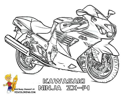 motorcycle coloring book pages street bikes