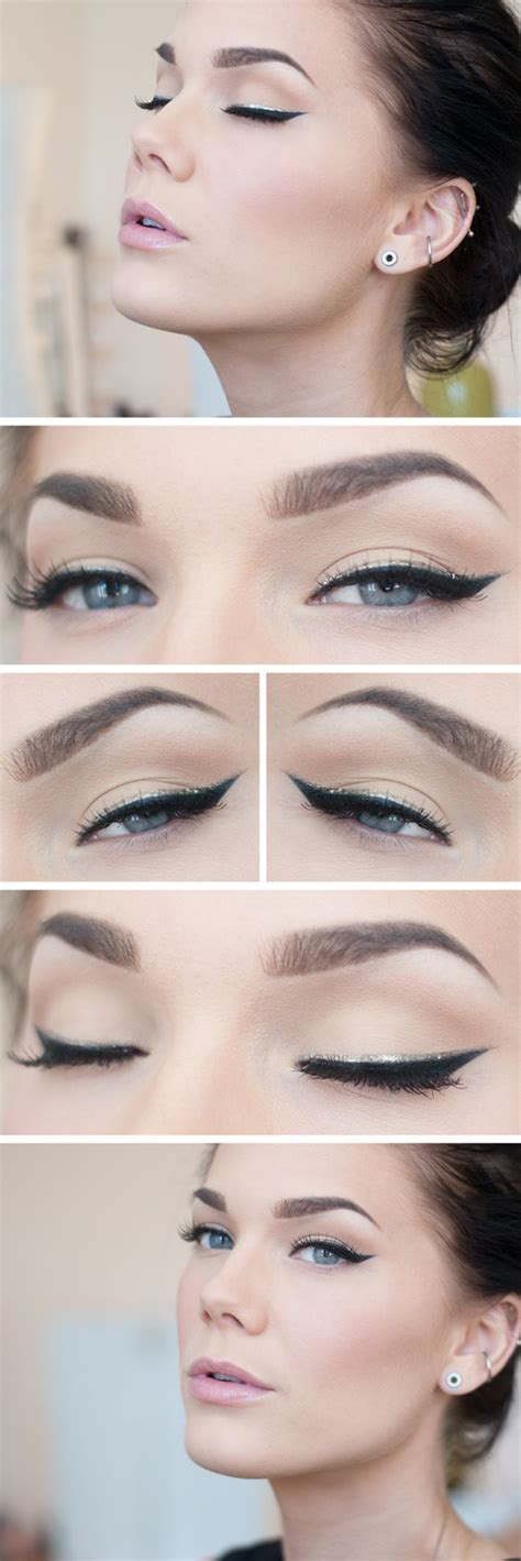 tutorial eyeliner silver silver double eyeliner accent makeup beauty